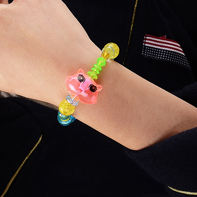 Strand Bracelets Charms-Beads Horse-Unicorn Crystal Rabbit Kids Children Cartoon Lovely