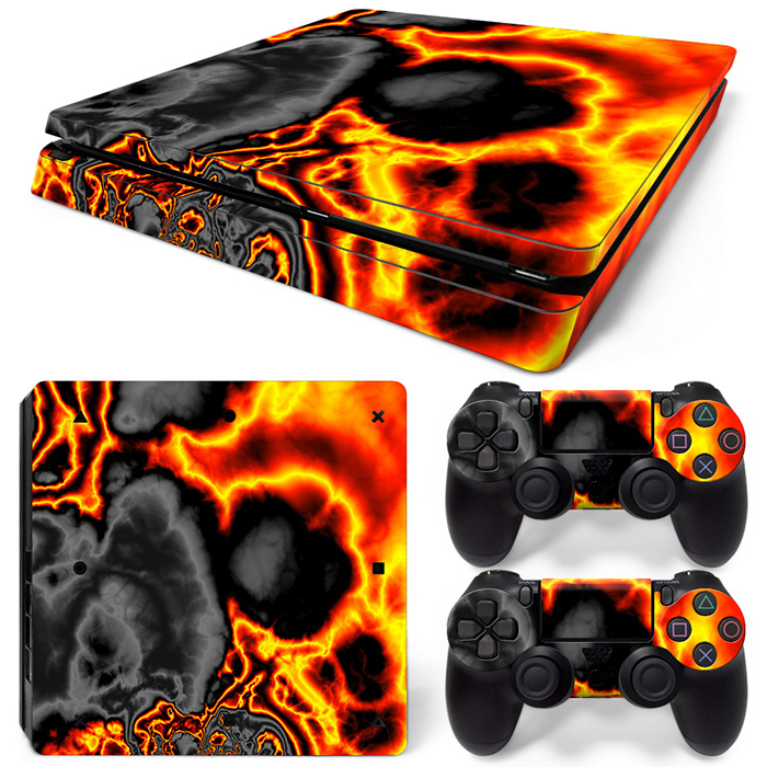 Free Drop Shipping Vinyl Decal Skin Stickers for PS4 Slim Playstaion 2 Controllers TN-PS4Slim-20010