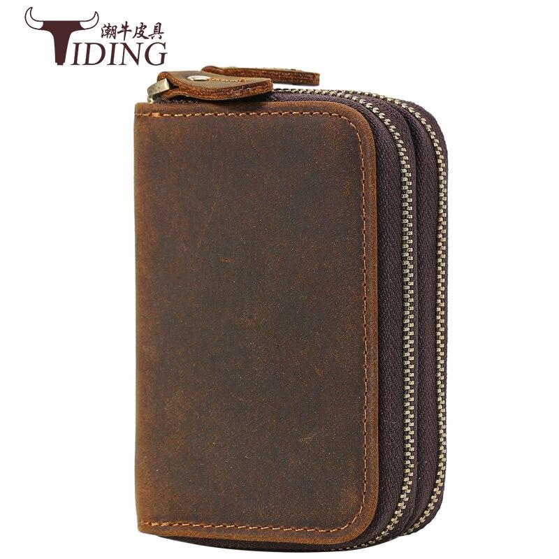 Porte-clé sac portefeuilles hommes portefeuille argent clips pièce de monnaie poche crazy horse cuir homme portefeuille en cuir marque pour argent carte 2017