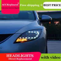 Auto Styling Für Mazda 6 led scheinwerfer 2009-2013 Led Mazda 6 kopf lampe Engel auge led licht nebel lichter Tagfahrlicht
