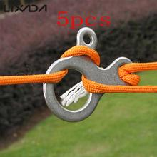 5pcs 3 Holes Stainless Camp Knot Tool Climbing Carabiner Survival Buckles Sport Outdoor Camping Kit Equipment