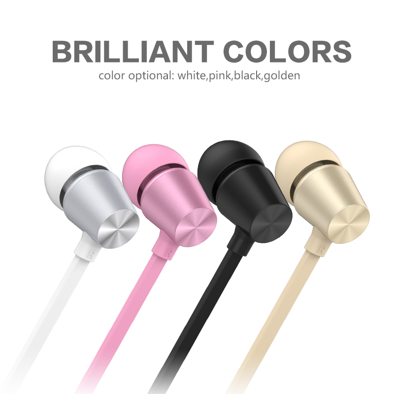 Pink Black White Gold Color Super Bass Music MIC In-Ear Earphones for Doogee Mix Mobile Phones Microphone