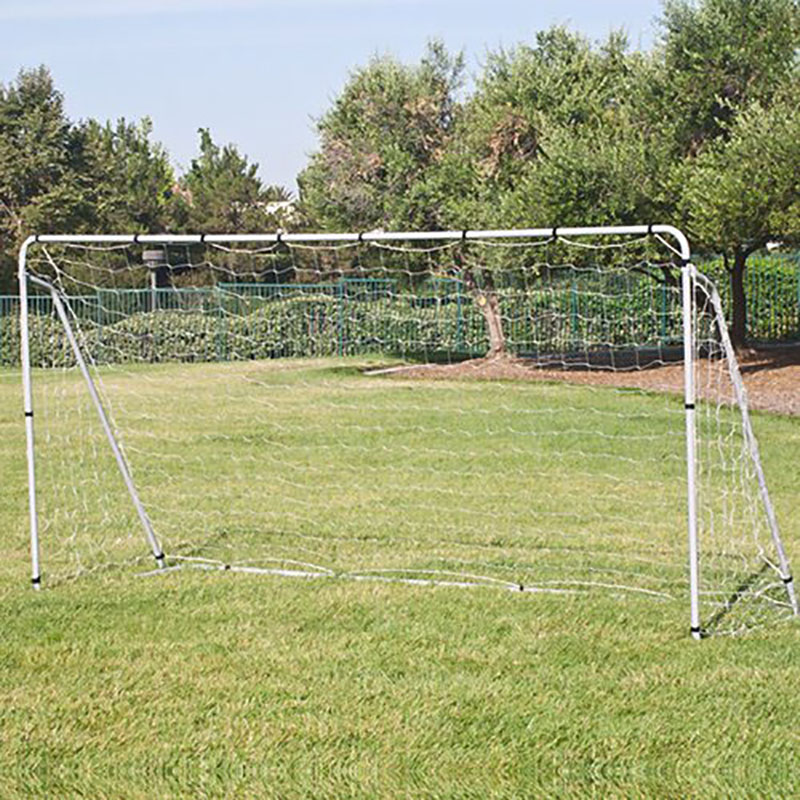 Offical Size 12 x 6FT Soccer Goal Net Velcro Straps Anchor Large Metal Poles Football Net Sports Family play&Training Metal net 2008 donruss sports legends 114 hope solo women s soccer cards rookie card