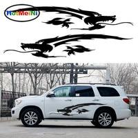 HotMeiNi 2X Ancient Sacred Chinese Dragon Totem Stripe Roared Car Styling Accessories Car Body Sticker JDM Vinyl Decal 200*39cm