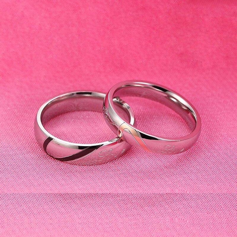 89b5b73a3ede ✅JEXXI romántico en forma de corazón de moda anillos de plata ...