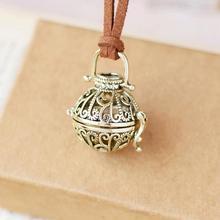 Мульти-стиль ретро Шарм Подвеска для ароматерапии Сферический медальон для ароматерапии эфирное масло диффузор ожерелье ювелирные изделия