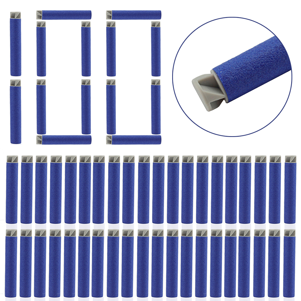 100Pcs  Flat Soft Head Tornado Head 7.2cm Soft Bullets For Nerf Toy Gun Refill Darts Toy For Nerf Blaster Rifle Airsoft