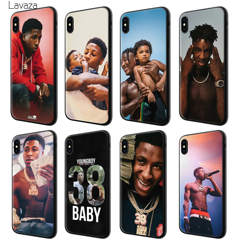 brand new 51816 dee1c Lavaza Youngboy Never Broke Again Soft Silicone Case Cover for Apple iPhone  6 6S 7 8 Plus 5 5S SE X XS MAX XR TPU Cases