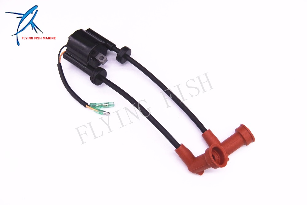 6B4 85570 00 00 Ignition Coil for Yamaha 2 Stroke Outboard Engine E15D E9 9D Free