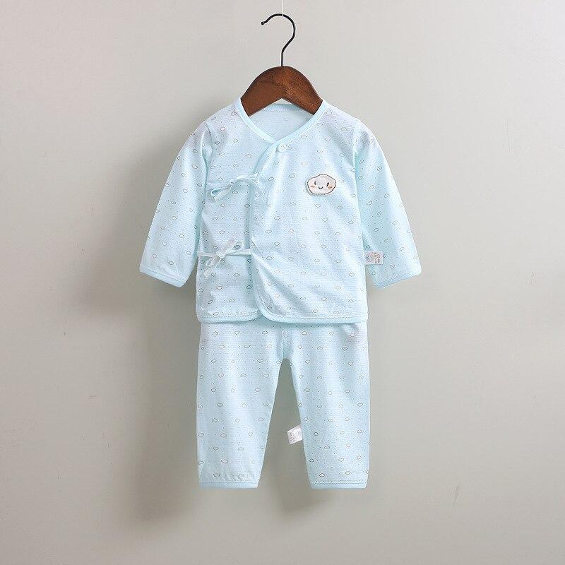 Newborn Girl Boy Sleeper Belt O-neck Unisex Clothing Set Bamboo Fiber Full Sleeve Summer  Infant Clothes 0-3M Premature Baby