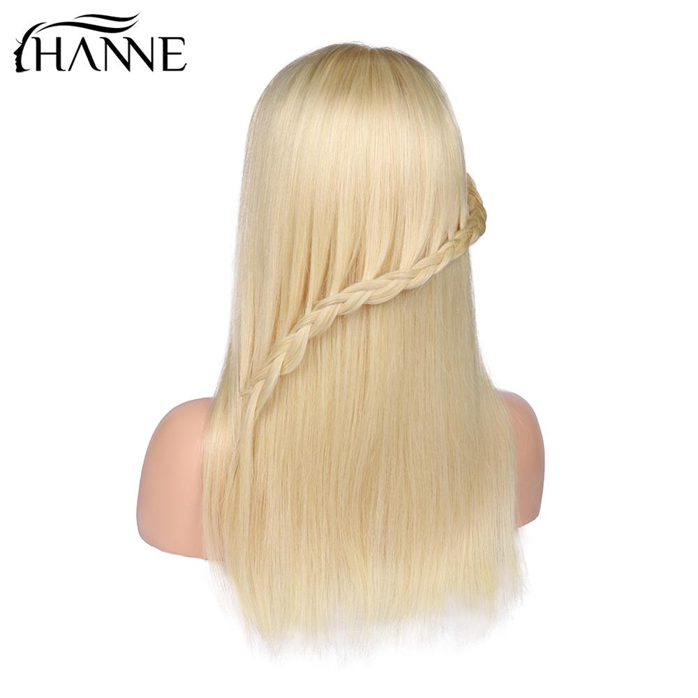 613 4 4 Lace Closure Human Hair Wigs Blonde Color Lace Remy Wig For Women Brazilian Straight Human Hair Glueless Lace Wig HANNE in Human Hair Lace Wigs from Hair Extensions Wigs