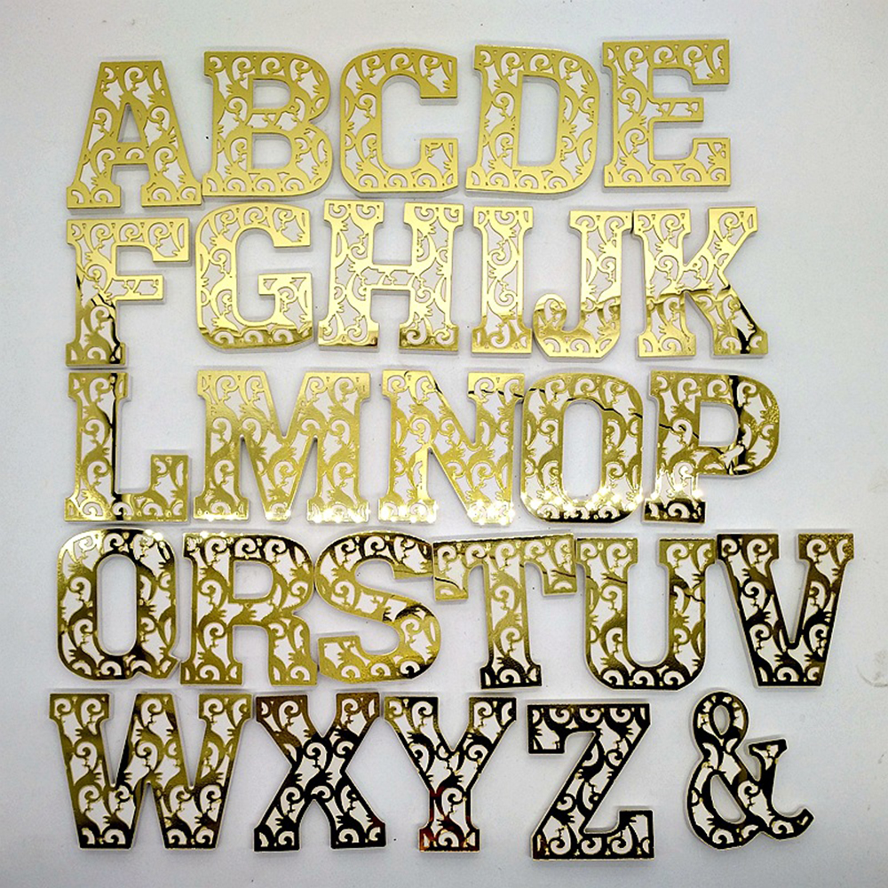Us 2 19 33 Off Letters Wall Decoration 3d Creative Acrylic Letters Mirror Wall Decor 10 9 1cm Wall Diy Wedding Party Alphabet Poster Wholesale In