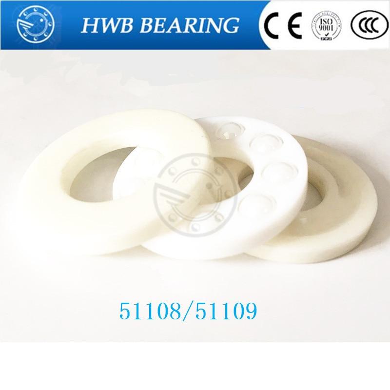 все цены на 1pcs Free shipping 51108 51109 ZrO2 full ceramic thrust ball bearing 40x60x13 45x65x14mm онлайн