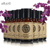 AKARZ Famous brand value meals Chamomile Lemon Ylang Ylang Orchid Sandalwood Eucalyptus Osmanthus Rosemary essential oil 10ml*8