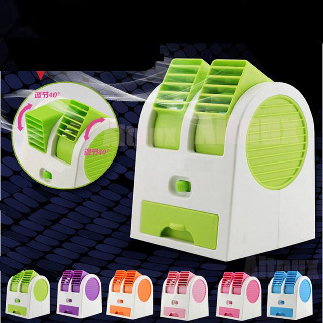 Mini USB Ventilador Pequeño Ventilador de Refrigeración Sin Cuchilla de Escritorio del Refrigerador Portátil Dormitorio Aire Acondicionado