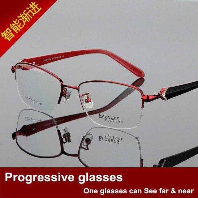 Ma'am Will Frame Gradual More Focus Glasses Myopia Distance Dual Purpose Intelligence Zoom Half Frame Presbyopic Glasses F 3075