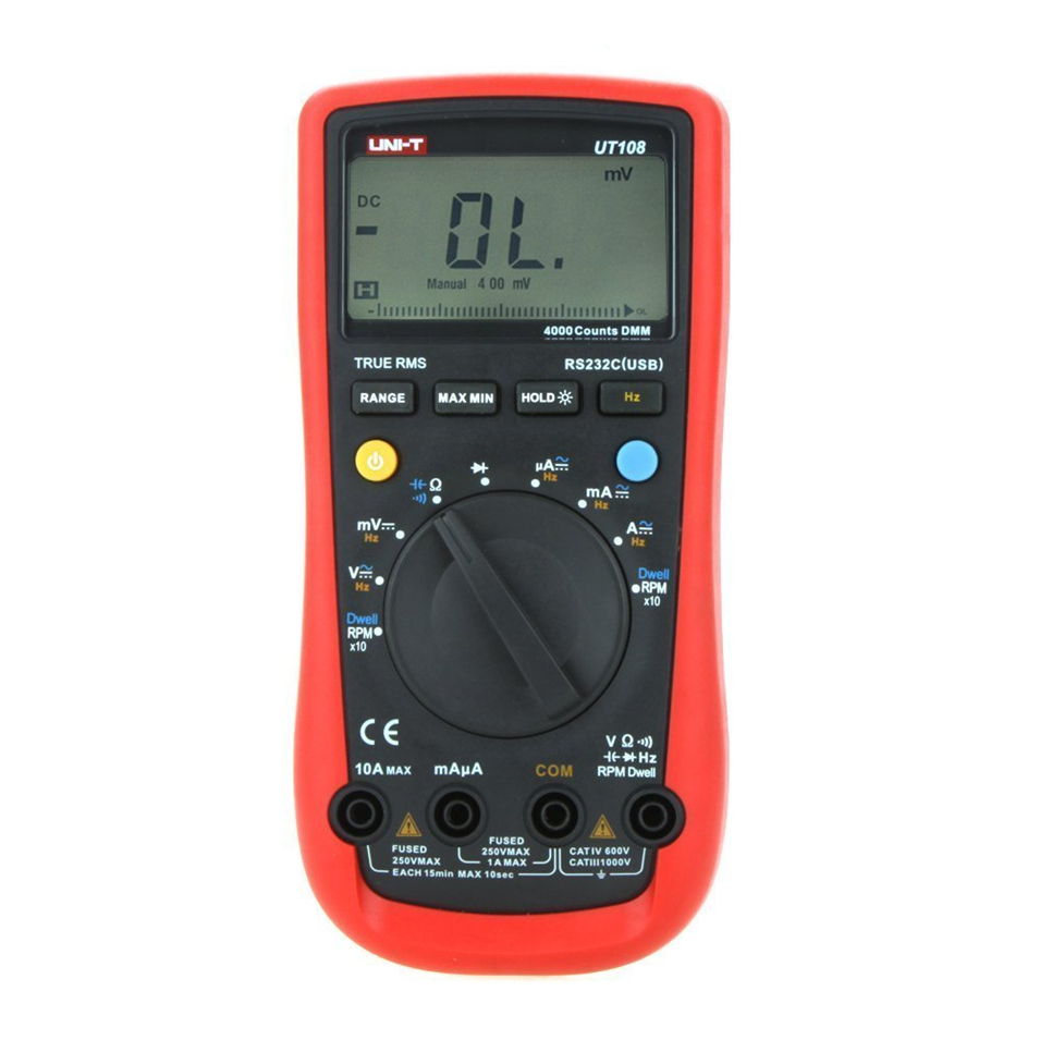 Digital Multimeters UNI-T UT108 Handheld Automotive Multi-Purpose Meters AC DC Volt Amp Ohm Hz Temp Meters 2000 Counts цена