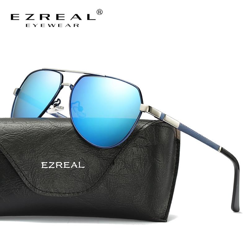 EZREAL Brand HD Polarized Sunglasses Men Classic Retro Pilot Glasses Color Polaroid Lenses Driving Women Sunglasses #EZ389
