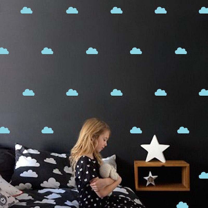 Nube pequeña pegatinas de pared tatuajes de pared diy decoración - Decoración del hogar - foto 5