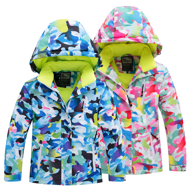 3263ca37 Waterproof Snowboard Jackets Outdoor Baby Girls Ski Jacket Kids Skiing  Jackets Boys Thick Snow Clothes Keep Warm Coat Windproof