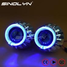 Otomobiller için LED Melek Gözler Halo HID Bixenon Projektör Lens Far 2.5 ''Araba Aksesuarları Lensler Güçlendirme DIY H1 H4 h7