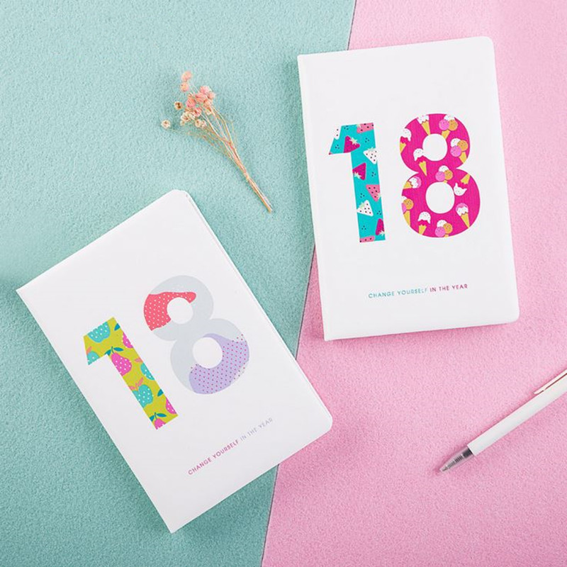 Coloffice 1PC Creative Simple Friut A5 Notebook Efficiency Manual Notepad  Hand Book 2018 Schedule Planner Journal Stationery cagie a5 schedule plan notebook creative stationeryplan notebook efficiency manual notebook notepad 1pcs