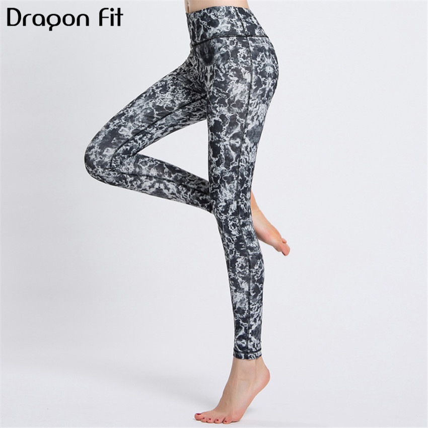 Dragon Fit Printing Elastic Sport Leggings Women Quick Drying Breathable Yoga Pants Compression Leggins Sport Women Fitness