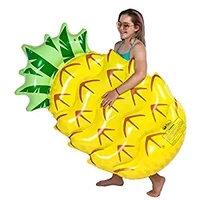 150 90CM Inflatable Pineapple Pool Float 2017 Summer Holiday Island Swimming Board Water Toy Raft Bed