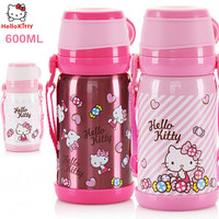 Hello Kitty Stainless Steel Water Bottle Kitty Women Vacuum Cup Cute Travel Mugs Thermo Mug Thermos