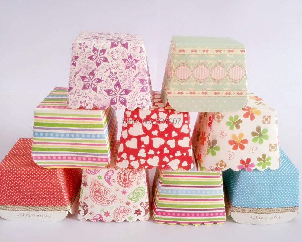 Square Paper Cake Cases