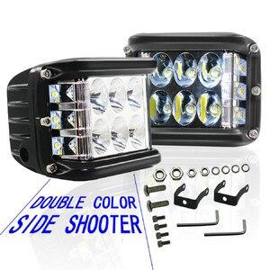 Image 2 - Новый светодиодный светильник для автомобилей 45 Вт Светодиодный светильник рабочий прожектор комбинированный боковой шутер для вождения внедорожников автомобильный трактор Luces светодиодный Para Auto