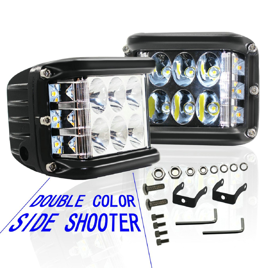 Image 2 - New LED Lamps For Cars 45W LED Light Work Flood Combo Side Shooter Driving Off Road SUV Car Tractor Luces Led Para Auto-in Light Bar/Work Light from Automobiles & Motorcycles