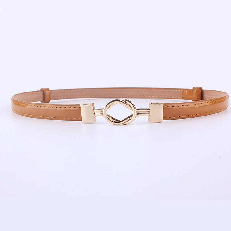 fashion Adjustable patent leather waist girdle dress   belts   for women dresses female ladies waistband straps casual golden buckle