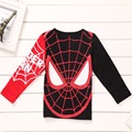 New 2016 Spider-Man Kids t shirts Girls and boys Spiderman T-shirts long Sleeve kids Tops 100%cotton children's Clothes