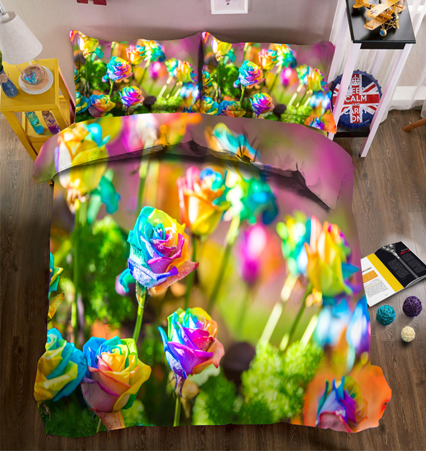 Custom size 3D Bedding set twin king Queen day duvet bed cover Luxury Color rose California king Sheet Quilt Cover PillowcaseCustom size 3D Bedding set twin king Queen day duvet bed cover Luxury Color rose California king Sheet Quilt Cover Pillowcase