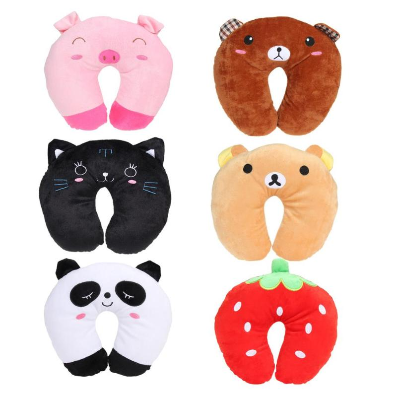 6 Color Comfortable Cushion For Car Plane Cartoon Animals U Shaped Pillow Travel Neck Pillow Multi-Color Neck Support Head Rest