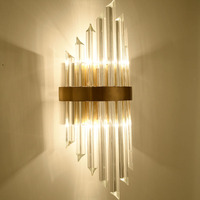 Fashion hotel crystal wall lamp modern living room bedroom aisle decoration E14 led Wall light fixture