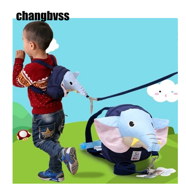 Blue Elephant Child Backpack Leash Safety Baby Harness Toddler