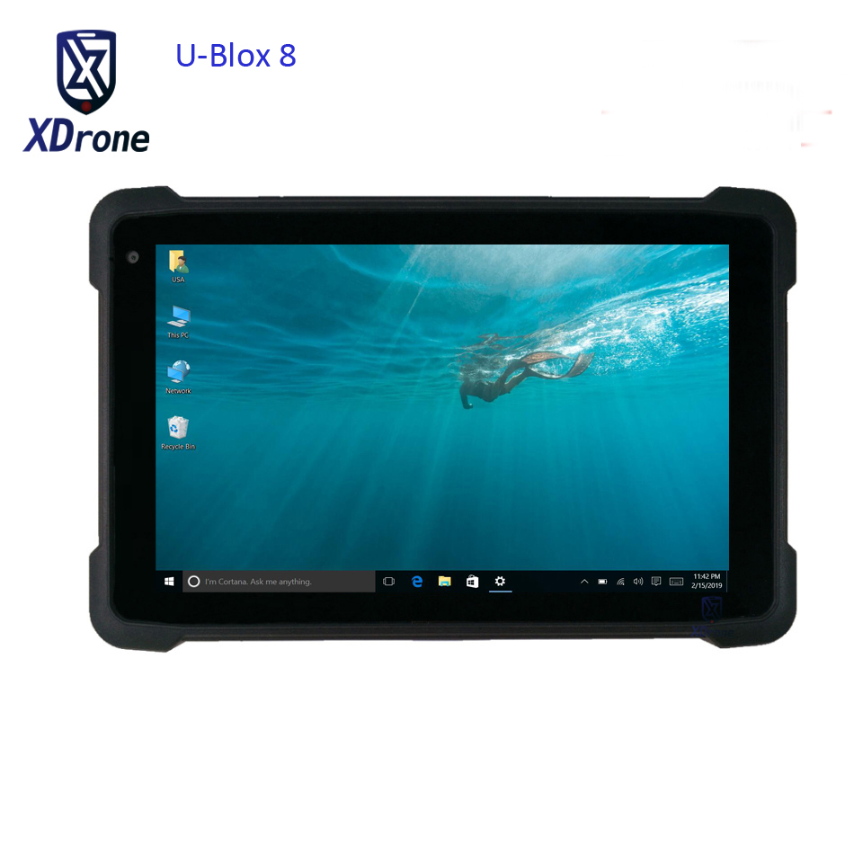 2019 Original K81H Windows 10 Home Waterproof Tablet PC 8 Inch UBlox M8 GPS GNSS Mapping High Precision Glonass Gps 3G HDMI WIFI