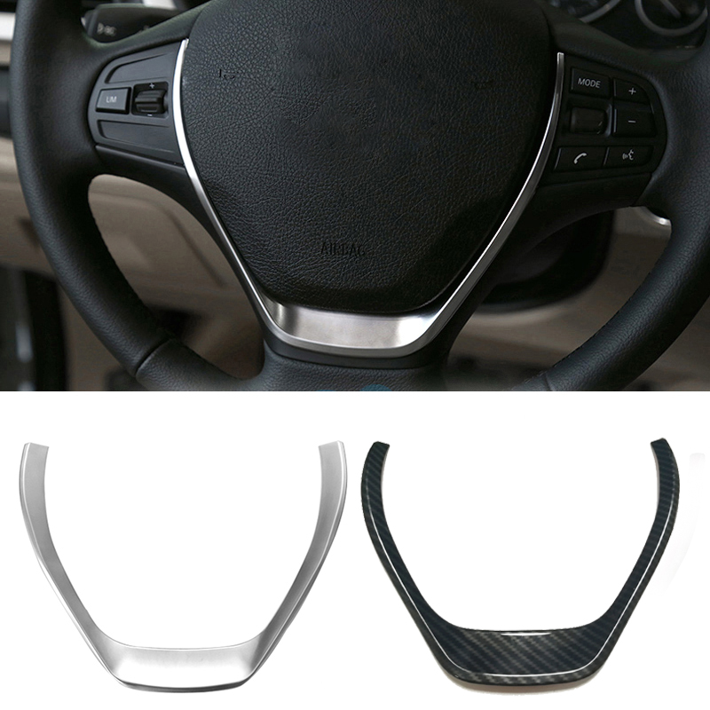 ABS chrome steering wheel decorative trim cover <font><b>sticker</b></font> interior accessories for <font><b>BMW</b></font> 1 3 Series <font><b>F20</b></font> F30 F34 3GT 320i 328i 118i image