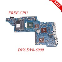 NOKOTION 640453 001 For Hp DV6 DV6 6000 laptop motherboard DDR3 Main board full tested FREE CPU