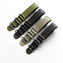 TJP 1PCS Classic 18mm 20mm 21mm 22mm 24mm Green Black Nylon NATO Strap Wristband With Ring Buckle For Military Watch bands