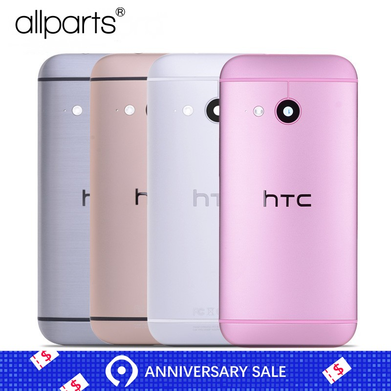 Warranty Housing For <font><b>HTC</b></font> One <font><b>M8</b></font> Mini 2 Back <font><b>Battery</b></font> Cover Housing <font><b>Case</b></font> with Volume Power Button Camera Lens Replacement Parts image