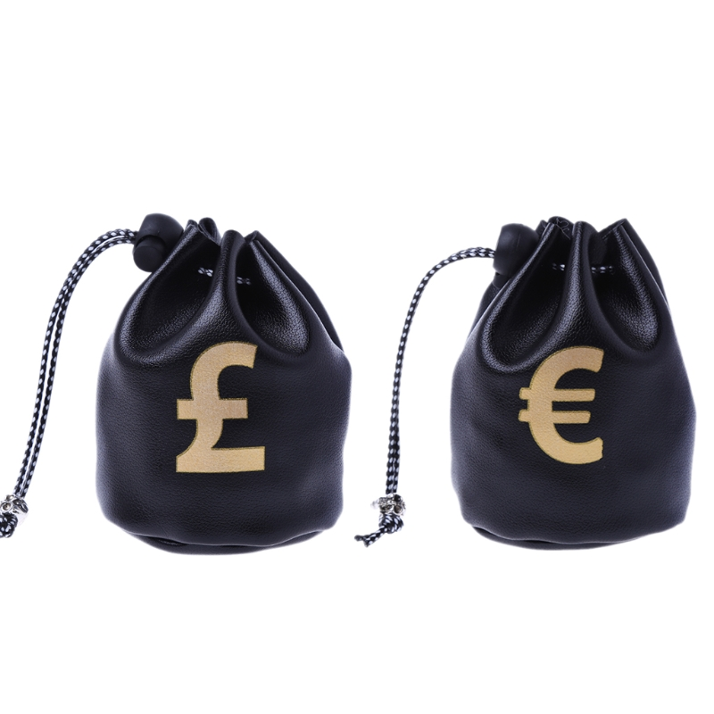 THINKTHENDO Cute Small Drawstring Coin Purse Wallet Bag Dollar GBP EUR Bags Jewelry Pouch Purse Coin Case Gift New Fashion Black