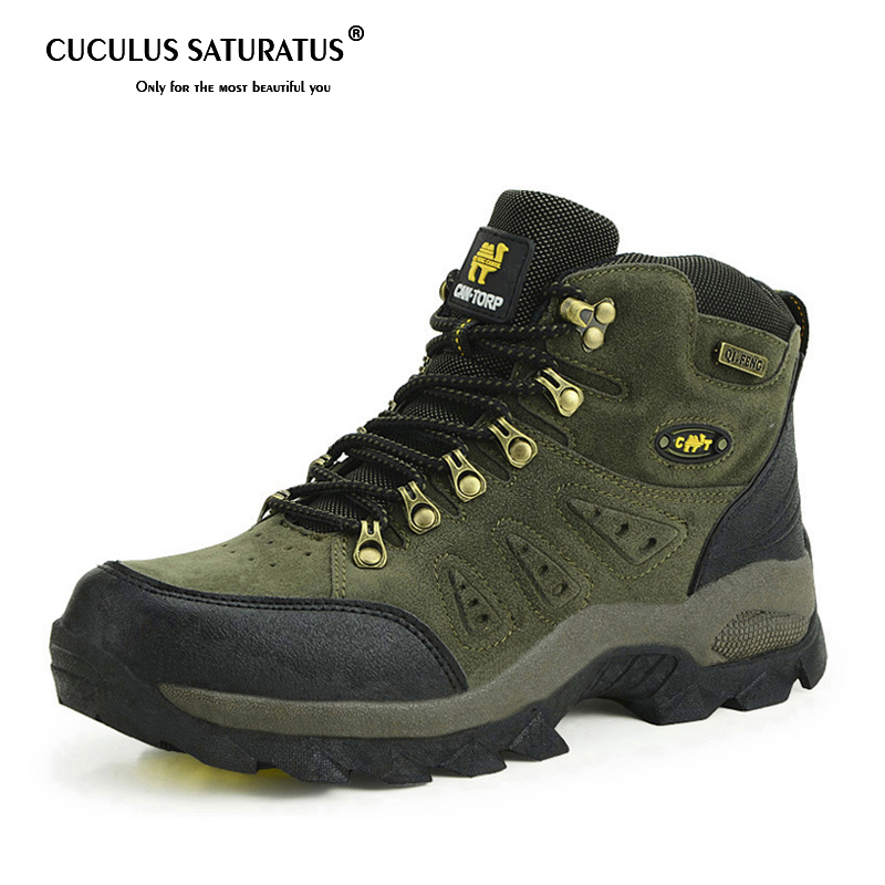 Trekking Shoes Men's Hiking Shoes Anti-skid Mountain Climbing Boots Outdoor Athletic Breathable Men Waterproof 1216 esdy esdy44 2 anti slip breathable outdoor climbing mountaineering hiking athletic shoes 44