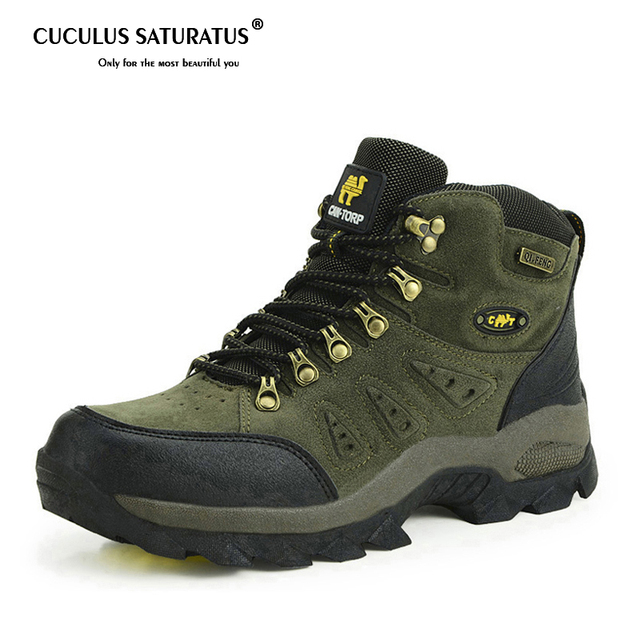 Trekking Shoes Men's Hiking Shoes Anti-skid Mountain Climbing Boots Outdoor Athletic Breathable Men Waterproof 1216