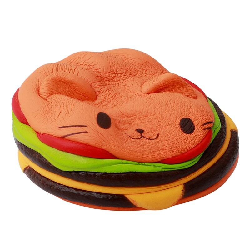 Sammeln & Seltenes Kawaii Katze Burger Langsam Steigenden Reliever Healing Antistrss Katze Hamburger Stressabbau Sammlung Simulation Weichen Phone Straps Spielzeug