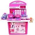 Crianças brinquedos de cozinha bebê brinquedos brinquedos de cozinha simulação utensílios de cozinha e eletrodomésticos rosa presente de aniversário