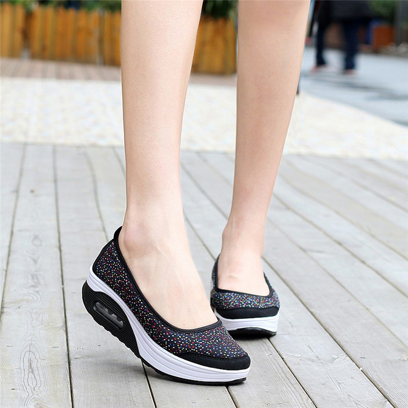 Women Outdoor Sneakers Mesh Casual running shoes Sports Shoes Thick-Soled Air Cushion Shoes Sneakers #2S05 (12)