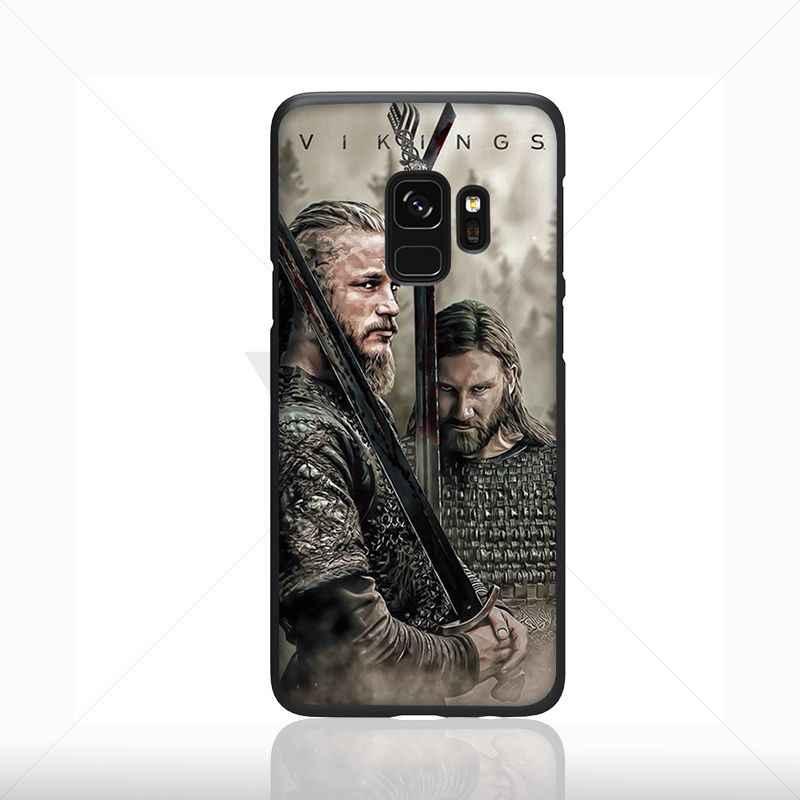 Yinuoda Ragnar Lothbrok Viking Seri Dicat Aksesoris Case untuk Samsung Galaxy S7 S10plus S9 S8plus Note 8 Note9 Kasus